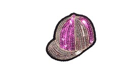 Sequin Riding Hat x 5