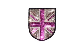 Champagne/Pink Sequin Union Jack (Small)