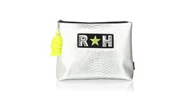 Personalised Silver Snakeskin XL Pouch
