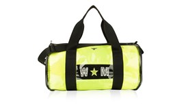 PVC Kit Bag With Personalised Neon Yellow Satin Liner