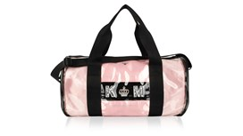 PVC Kit Bag With Personalised Pale Pink Satin Liner