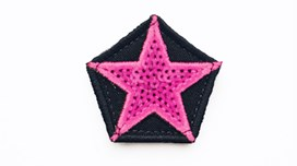 Mini Neon Pink Sequin Star