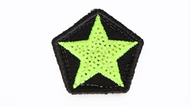 Mini Neon Yellow Sequin Star