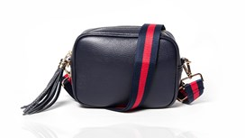 Navy Leather Bag