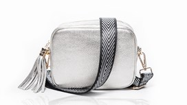 Silver Leather Bag and Strap