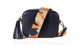 Navy Leather Bag and Strap
