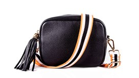 Black Leather Bag and Strap