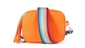 Orange Leather Bag and Strap