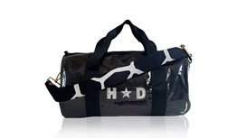 Kit Bag With Black Satin Liner and Black & White Giraffe Strap