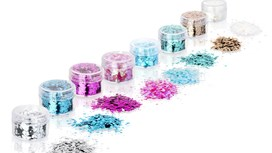 Face and Body Glitter Set with Eight Colours