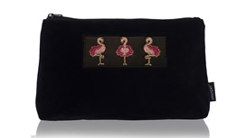 Customised Diva Large Pouch in Midnight Navy Velvet