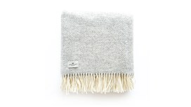 Silver Grey Wool Throw