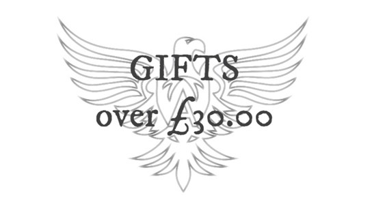 Gifts over £30.00