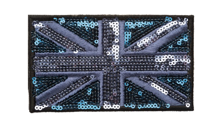 Large Blue/Navy Sequin Union Jack