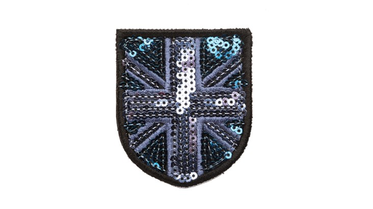 Small Blue/Navy Sequin Union Jack