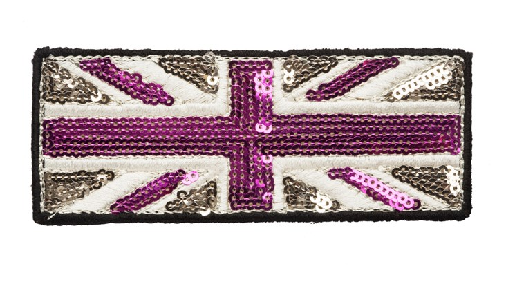 Medium Champagne/Pink Sequin Union Jack