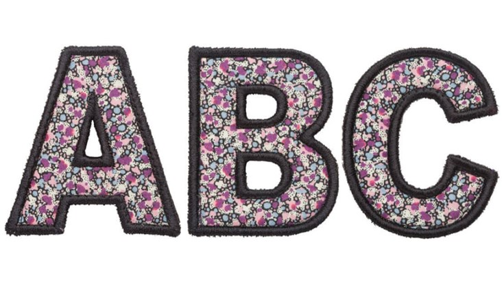 Liberty Floral Letters