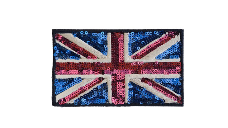 Large Traditional Sequin Union Jack