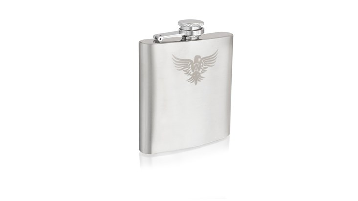 Hip Flask with Personalised Gift Bag