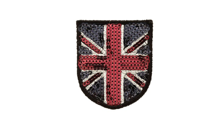 Sequin Silver Traditional Union Jack Small