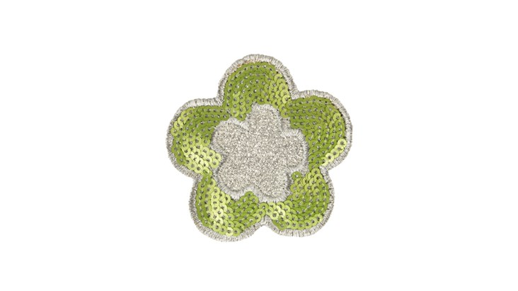 Silver/Lime Flower