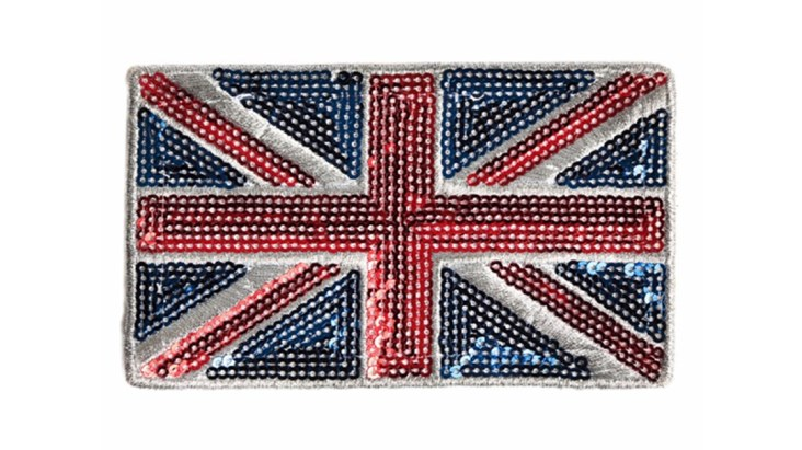 Original Sequin Union Jack Patch
