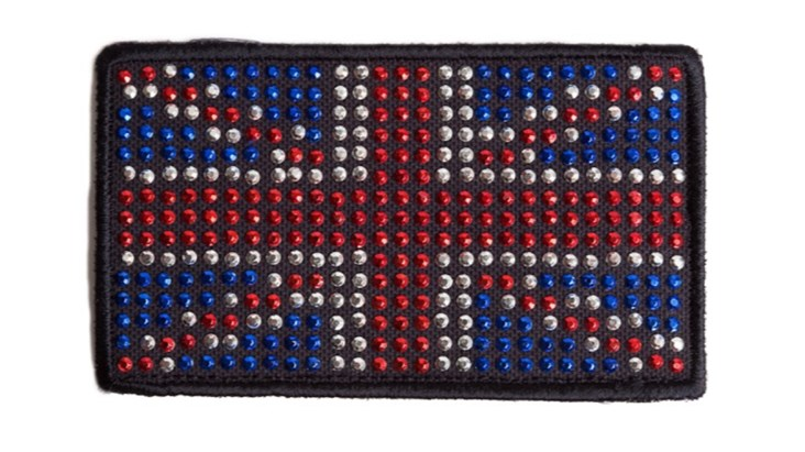 Rhinestone Union Jack Patch