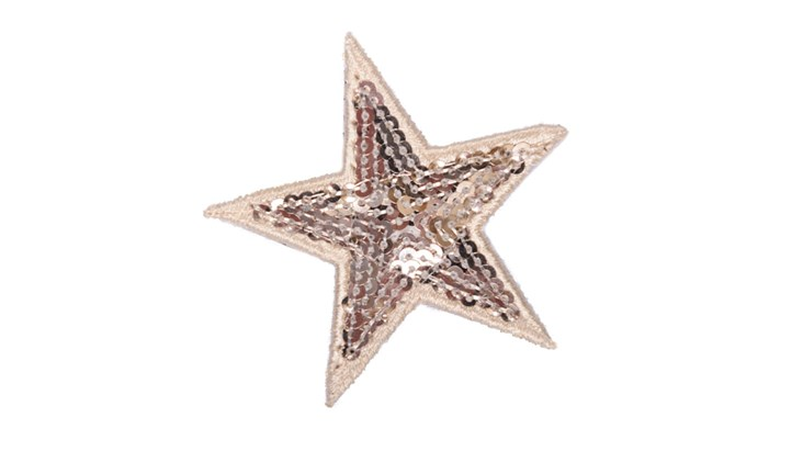 Champagne Sequin Star