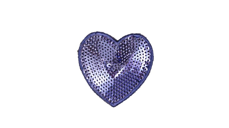 Blue Sequin Heart