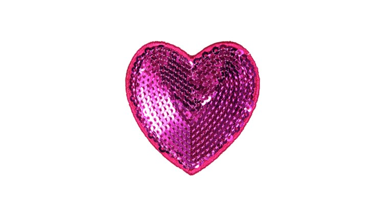 Pink Sequin Heart