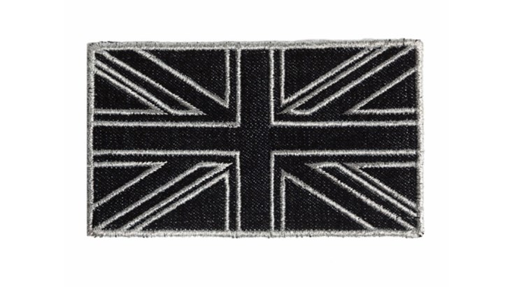Black Denim Union Jack Patch