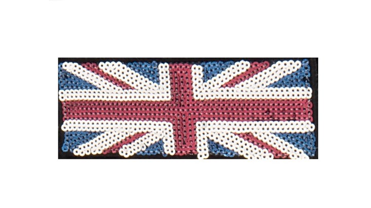 Sequin Silver/Red/Blue Union Jack