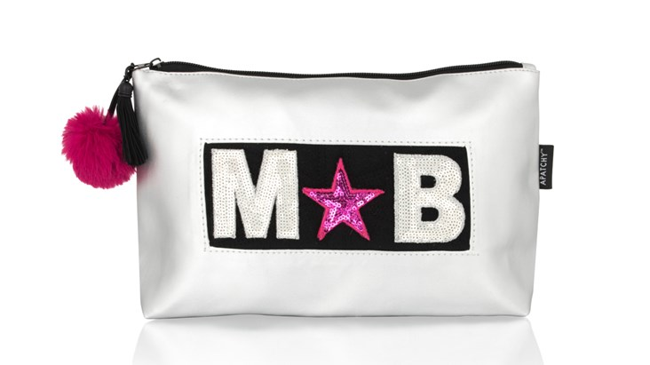 Personalised Silver Wash Bag