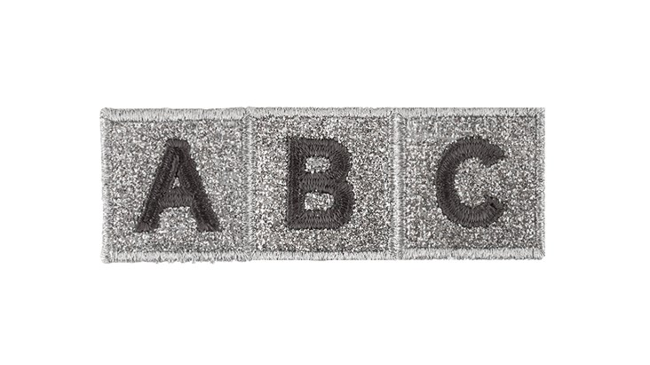 Grey/Silver Adhesive Letter Patches
