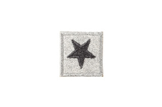 Grey Star Adhesive Patch