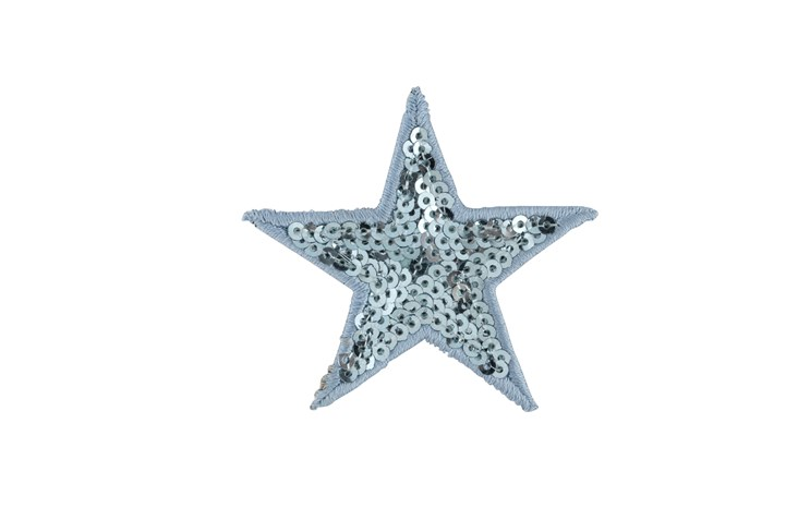 Pale Blue Sequin Star