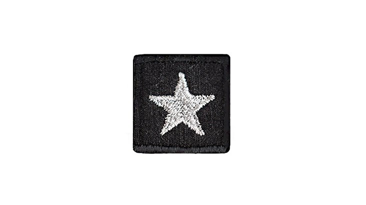 Black Star Adhesive Patch