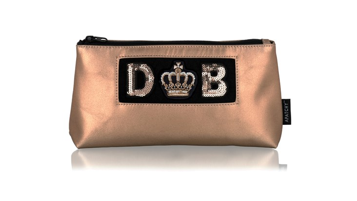 Diva Collection Medium Pouch in Blush Gold
