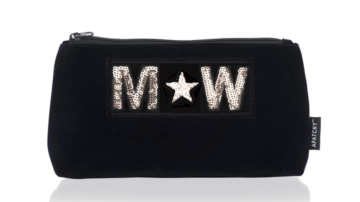Diva Medium Makeup Bag in Midnight Navy Velvet