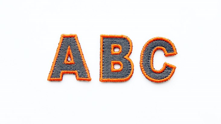 Mini Olive and Orange Letters