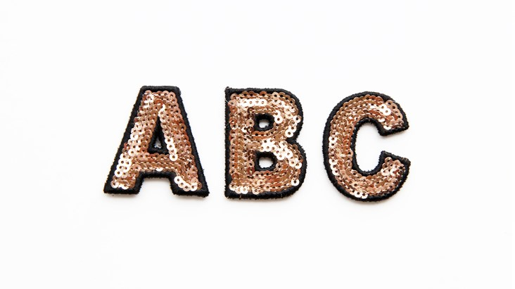 Mini Gold Sequin Letters