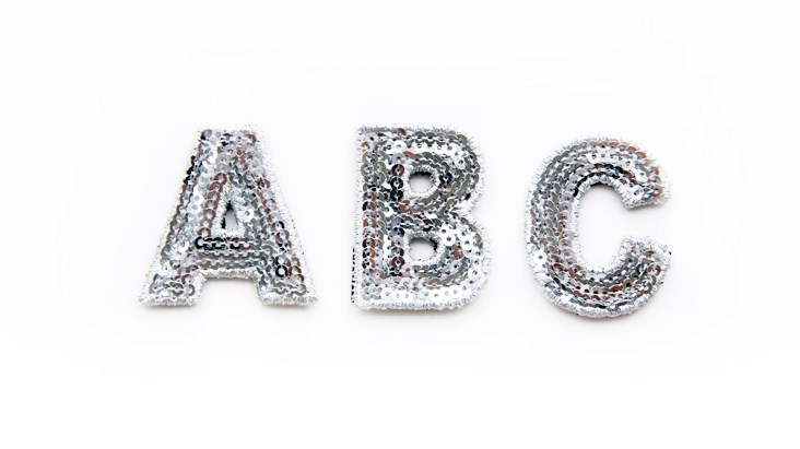 Mini Silver Sequin Letters