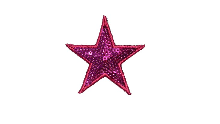 Pink Sequin Star x 5