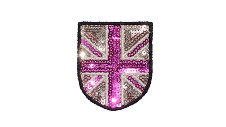 Small Champagne/Pink Sequin Union Jack