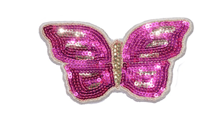 Large Pink Sequin Butterfly