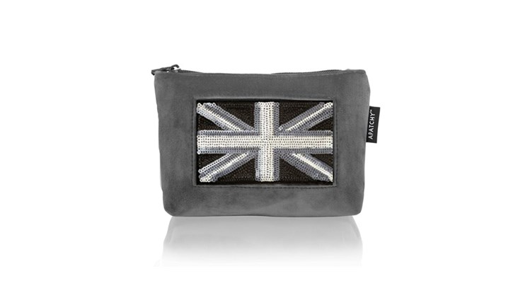 Grey Velvet Make Up Bag x 10 (Inc Patches)