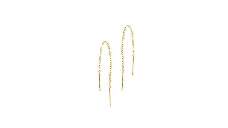 Gold Chain Threader Earrings