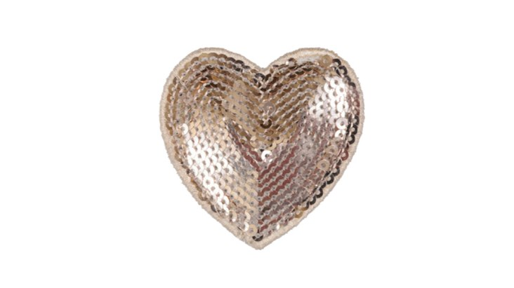 Champagne Sequin Heart