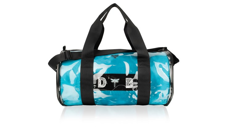 Kit Bag With Teal Satin Liner