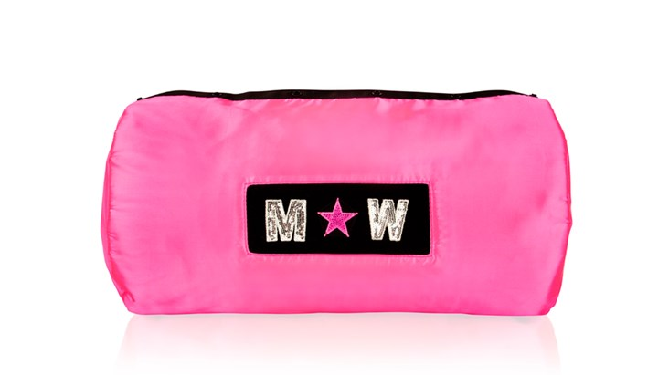 Neon Pink Satin Liner With Patches